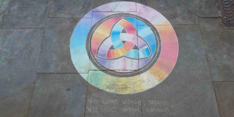 Lichtgidsen Glastonbury straattekening