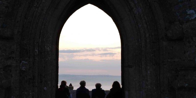 Lichtgidsen Glastonbury Tor Toren