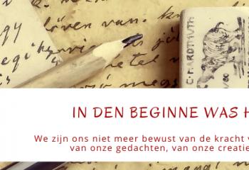 Blog In den beginne was het woord